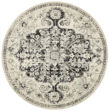 Brixton 860 Charcoal 150cm Round Rug