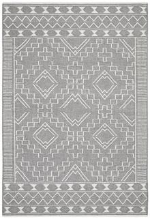 Enzo 802 Grey Designer Wool Rug