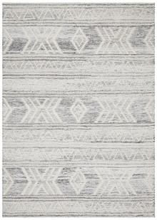 Enzo 806 Silver Designer Wool Rug