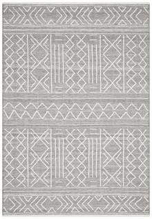 Enzo 807 Grey Designer Wool Rug