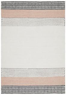 Enzo 809 Peach Designer Wool Blend Rug