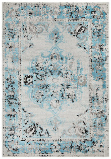 Kansas 602 Blue Modern Decor Rug