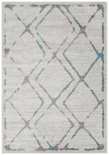 Kansas 606 Blue Modern Decor Rug