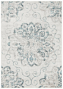 Kansas 609 Blue Modern Decor Rug