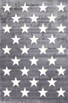 Piccolo 927 Dark Grey Star Kids Rug
