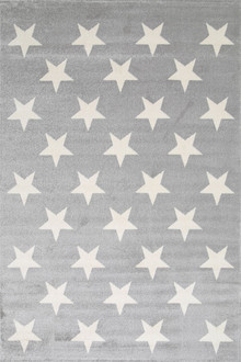 Piccolo 927 Light Grey Star Kids Rug
