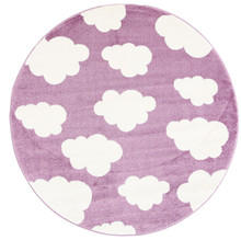 Piccolo 924 Purple Cloud 133cm Round Rug