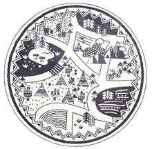 Piccolo 925 Village 133cm Round Rug