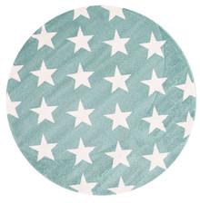 Piccolo 927 Green Star 133cm Round Rug