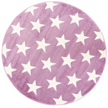Piccolo 927 Purple Star 133cm Round Rug