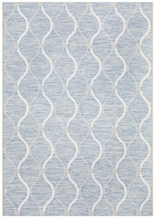 Terrace Lattice Blue Design Floor Rug