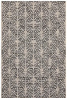 Terrace Black Web Design Floor Rug