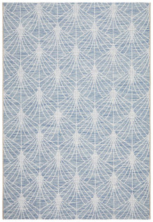 Terrace Web Design Blue Floor Rug