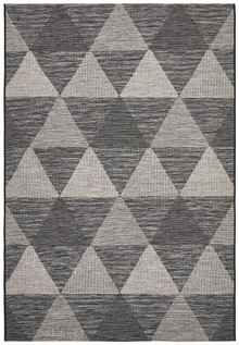 Terrace Black Aztec Floor Rug