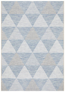 Terrace Aztec Blue Floor Rug