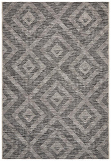 Terrace Black Maze Floor Rug