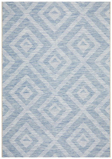 Terrace Maze Blue Floor Rug