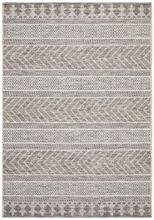 Terrace Grey Stripe Floor Rug