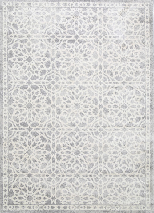 Light Grey Designer Rug