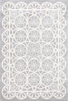Piccolo Grey Lace Kids Rug