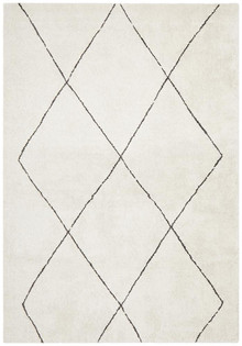 Brooklyn Plush Zig Zag Ivory Rug