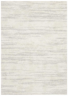 Brooklyn Silver Plush Brush Rug