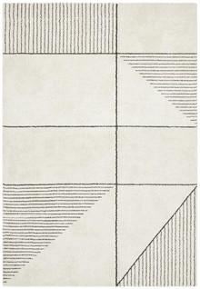 Brooklyn Plush Geometric Ivory Rug