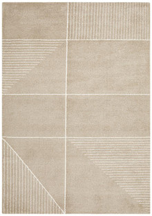 Brooklyn Plush Geometric Natural Rug