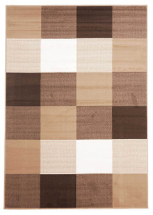 London Check Brown Rug
