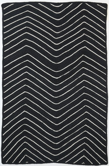 Art Black Chevron Jute Rug
