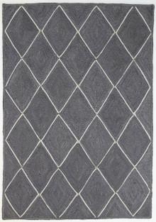 Art Diamond Grey Jute Rug