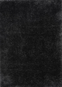Eva Silky Plush Black Shaggy Rug