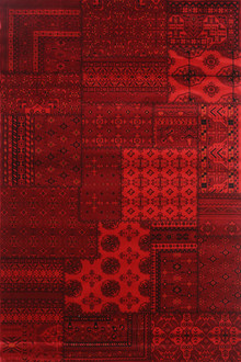 Afghan 6890 Red Traditional Rug