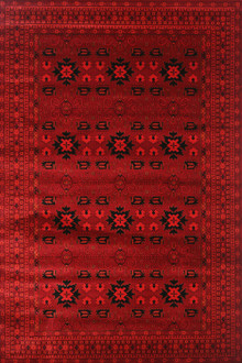 Afghan 7141 Traditional Red Rug