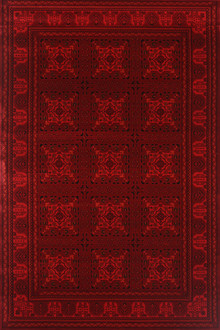 Afghan 7143 Traditional Red Rug
