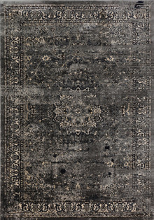 Adeni Jett Dark Grey Rug