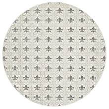 Indie Classic Silver 150cm Round Rug