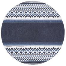 Indie Aztec Blue 200cm Round Rug