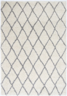 Avis Hex Cream Shaggy Rug
