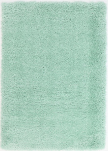 Kati Lime Blue Plush Shaggy