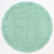 Kati Lime Blue Shaggy 160cm Round