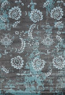 Allure Silk Grey Flower Rug