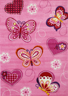 Barca Pink Butterfly Rug