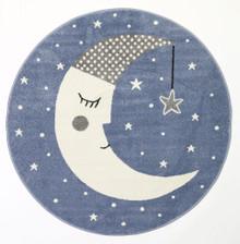 Barca Sleeping Moon 133cm Round Rug