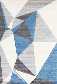 Kimba Blue Pixel Rug