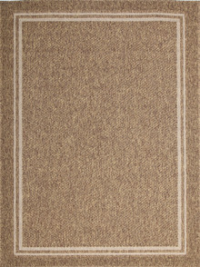 Honolulu Outdoor Brown Border Rug