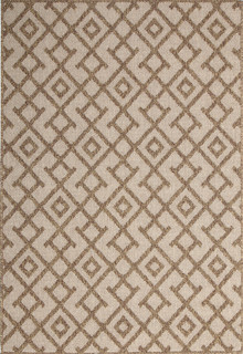 Honolulu Maze Brown Outdoor Rug