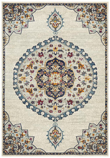 Baltimore Medallion Ivory Rug