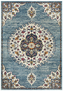 Baltimore Medallion Blue Rug