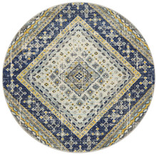 Baltimore Mosaic Navy 200cm Round